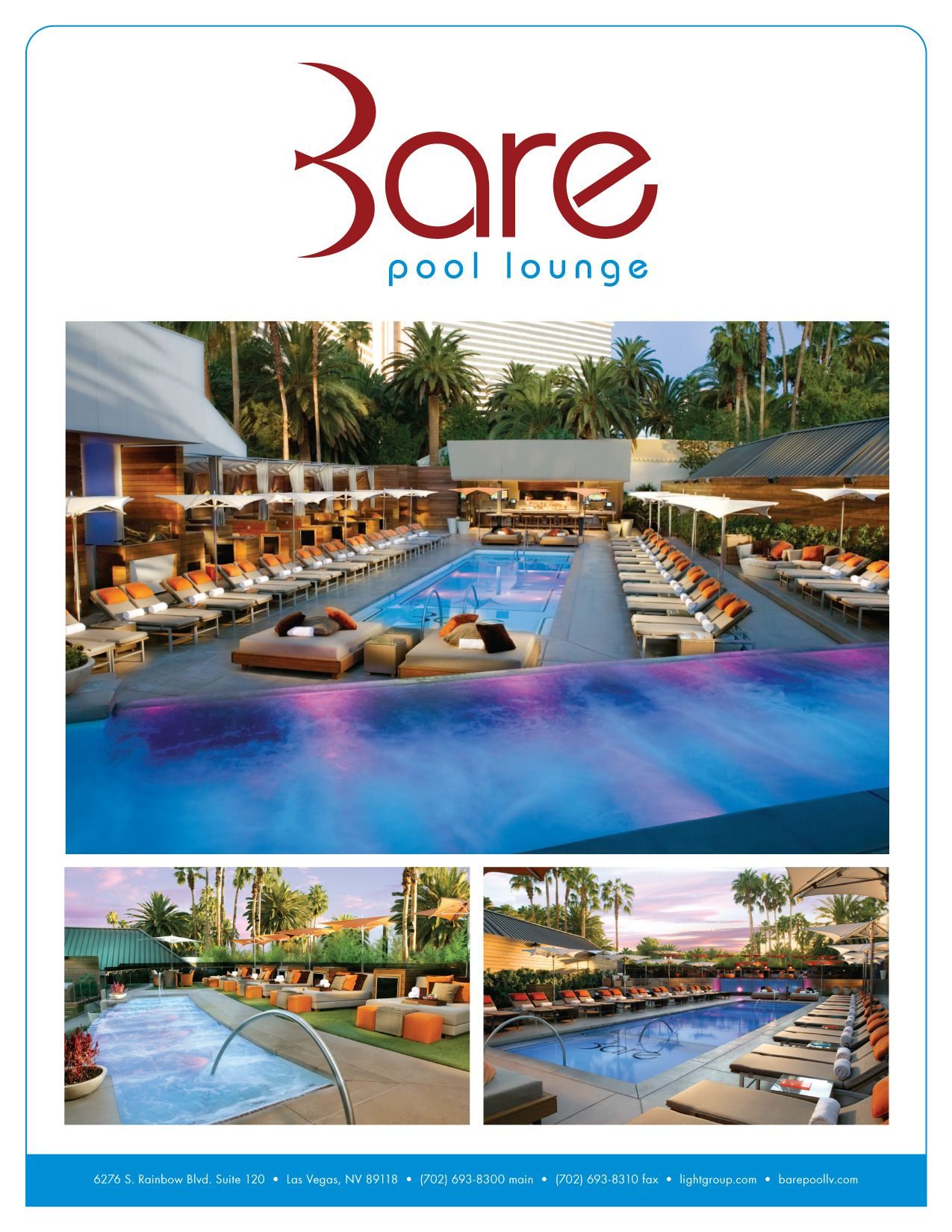 Bare Pool Lounge Featured on Vegas Vegas Pinterest