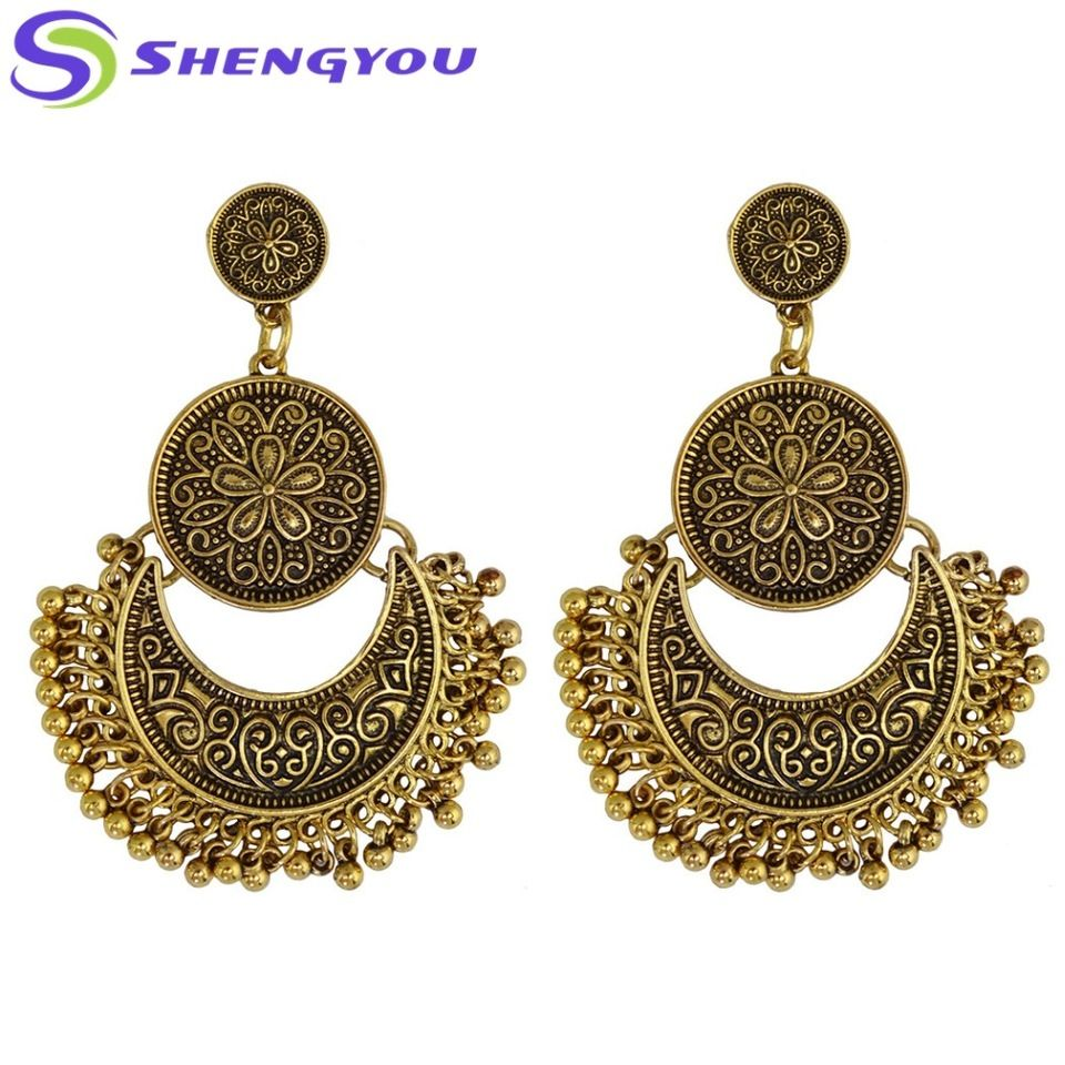 dfb430818350ac New Style Antique Indian Simple Gold Fashion Jewelry Jhumka Earring for  Women