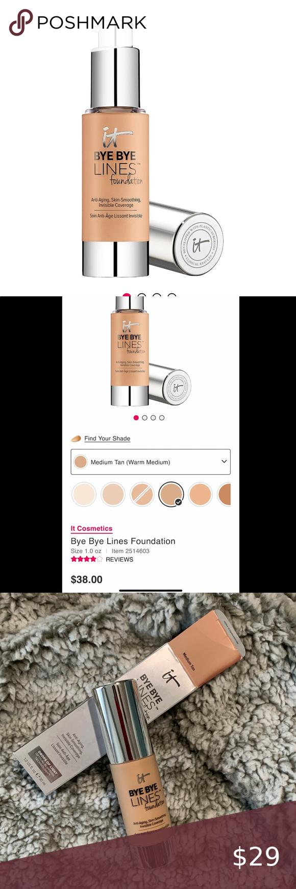 It cosmetics Bye Bye Lines Foundation medium tan in 2020
