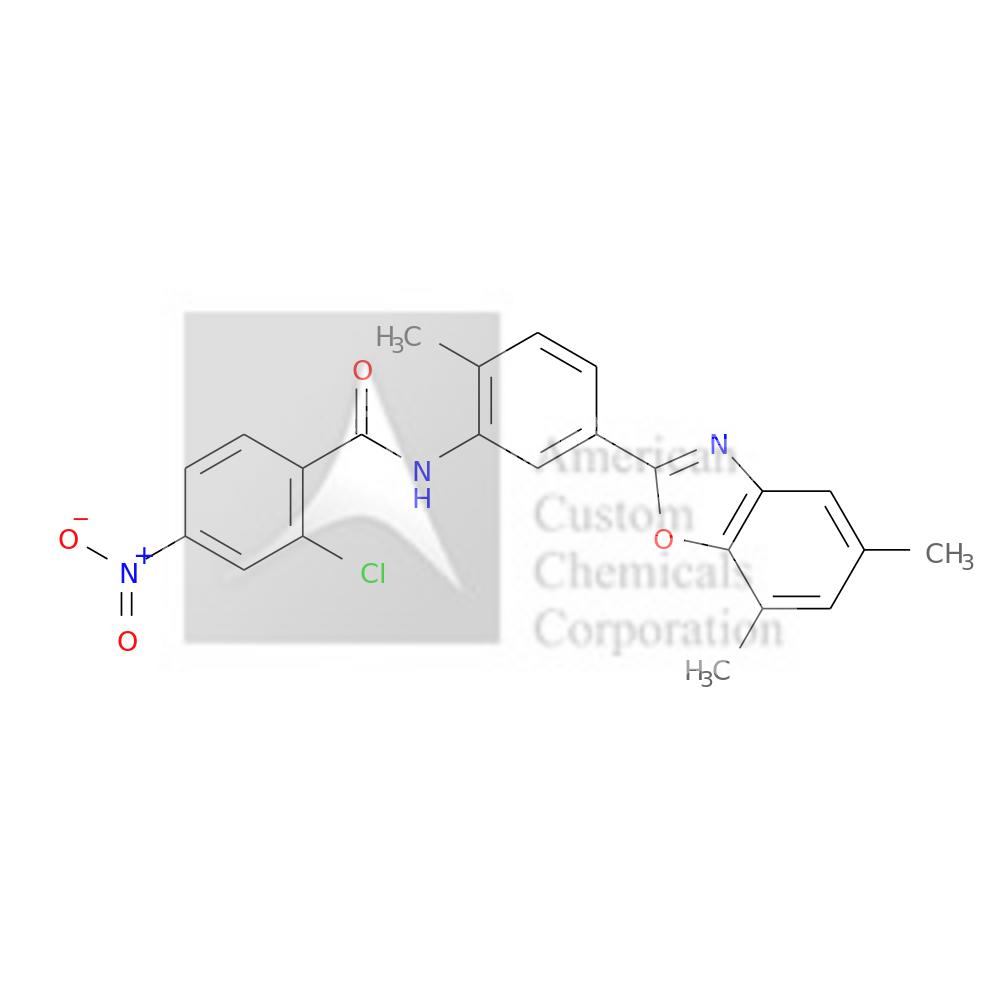 2-CHLORO-N-[5-(5,7-DIMETHYL-1,3-BENZOXAZOL-2-YL)-2-METHYLPHENYL]-4-NITROBENZAMIDE is now  available at ACC Corporation