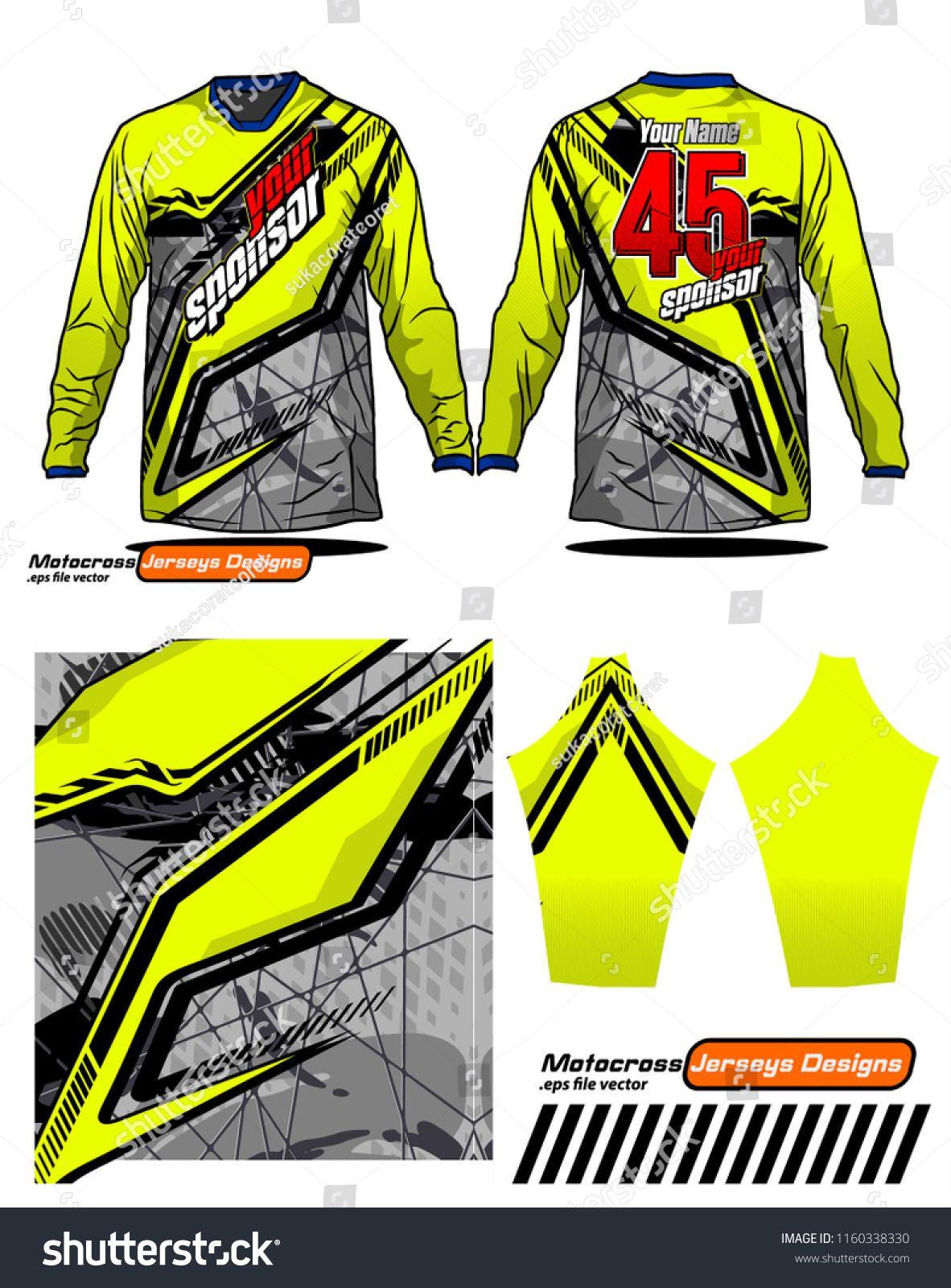 Long Sleeve Motocross Jerseys T Shirts Vector Ngraphic Design