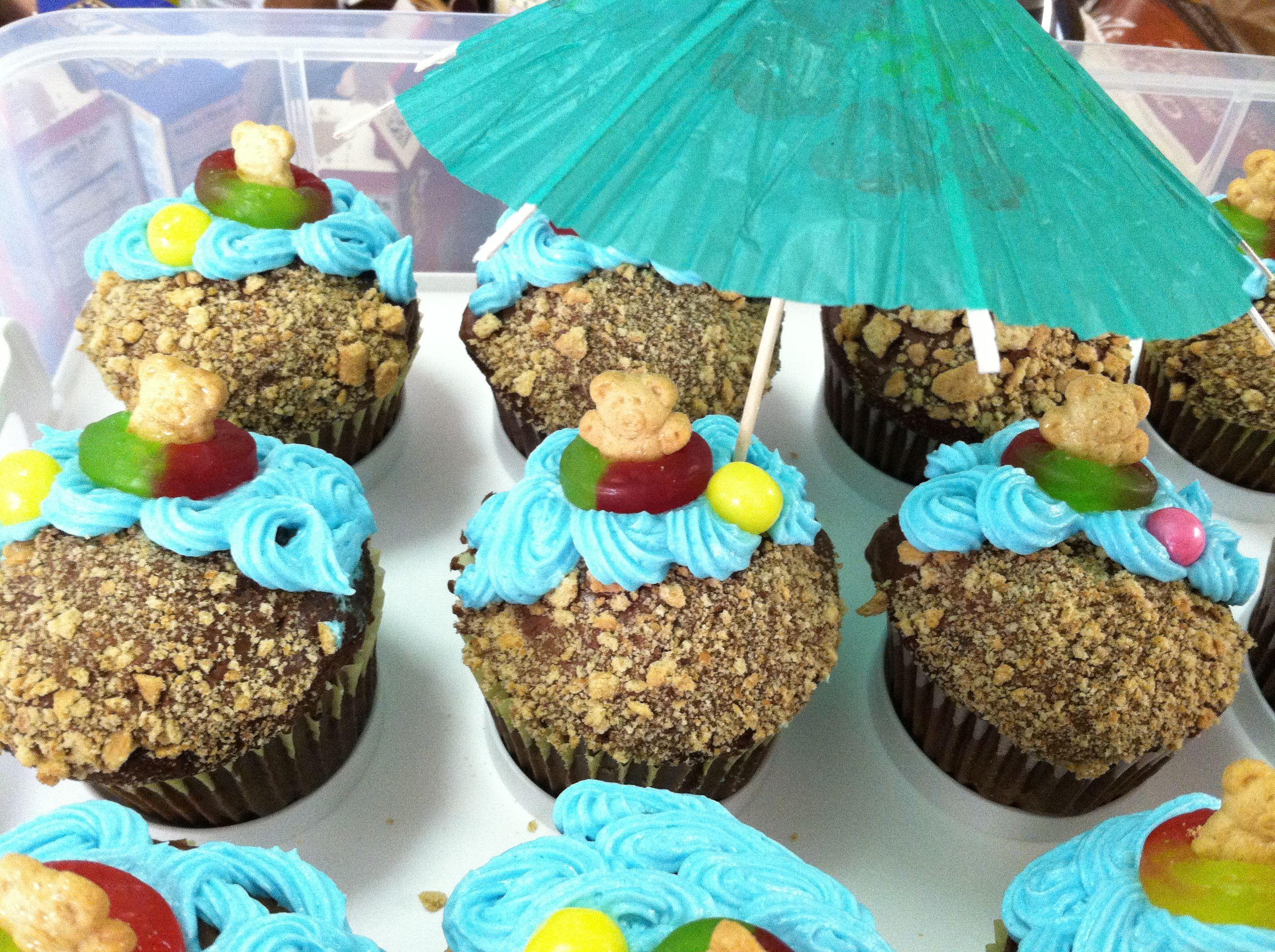 Beach Theme Cupcakes Umbrella I Got