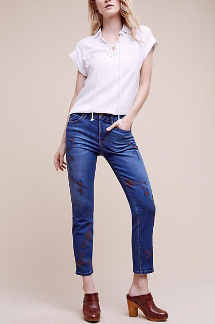 Level 99 Allie Mid-Rise Crop Jeans - anthropologie.com