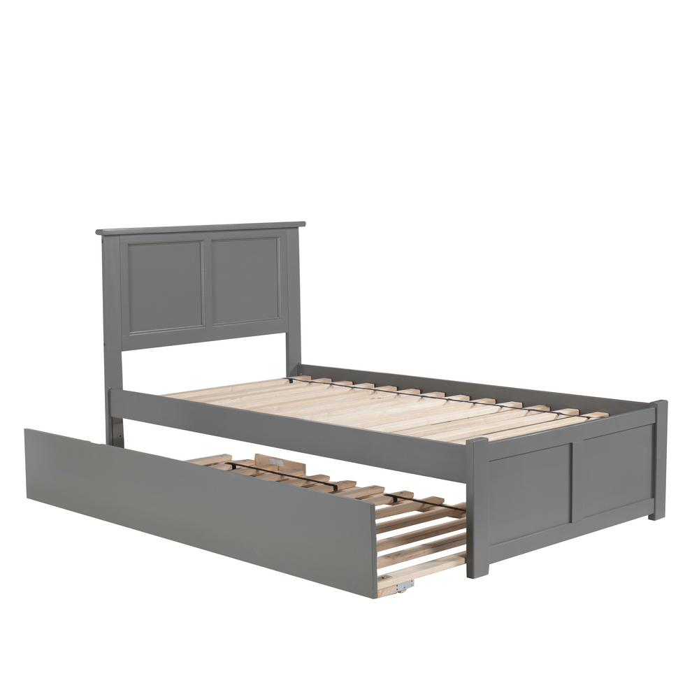 Atlantic Furniture Madison Twin Platform Bed With Flat Panel Foot
