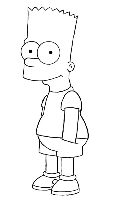 White Black Bart Simpson And Supreme Drawings