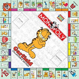 Monopoly Game Board Garfield 25th Anniversary Monopoly Game