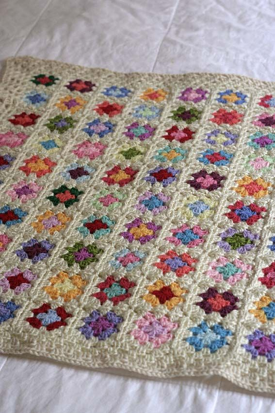 Look What I Made: Baby Granny Square Blanket | Mantas | Pinterest ...