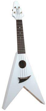 Mahalo UG-40WT Arrow-Shaped Soprano Ukulele with Bag - White