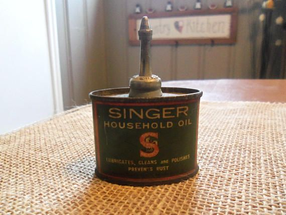 Vintage Singer Household Oil Can High Grade Lubricant ...