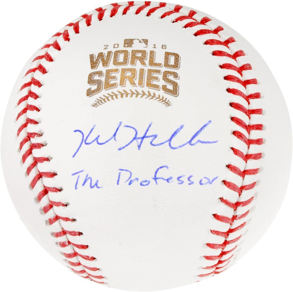 0f76ece8a0b Kyle Hendricks Cubs 2016 MLB WS Champs Signed Baseball with The Professor  Insc