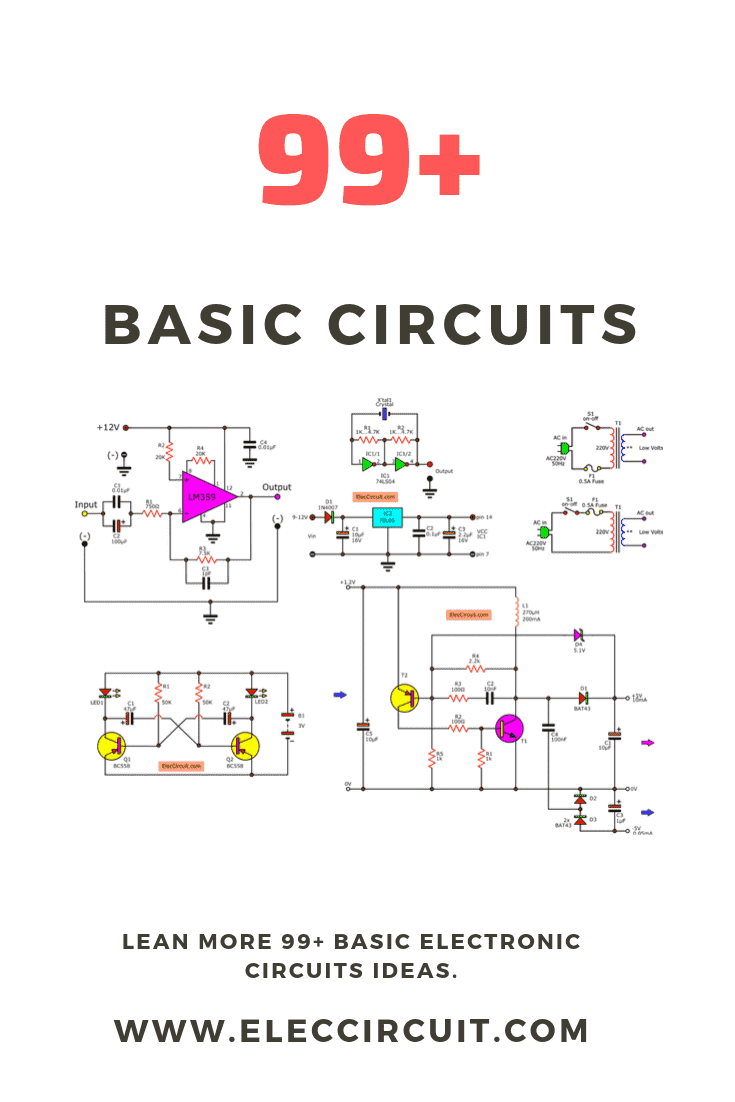 See A Collection Of Many Basic Electronic Circuit Experiment Makes You Learn Electron In 2020 Basic Electronic Circuits Electronic Circuit Projects Electronics Circuit