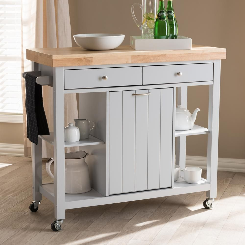 Benefits If Having Kitchen Island Cart With Trash Bin Kitchen Cart Rolling Kitchen Island Light Grey Kitchens