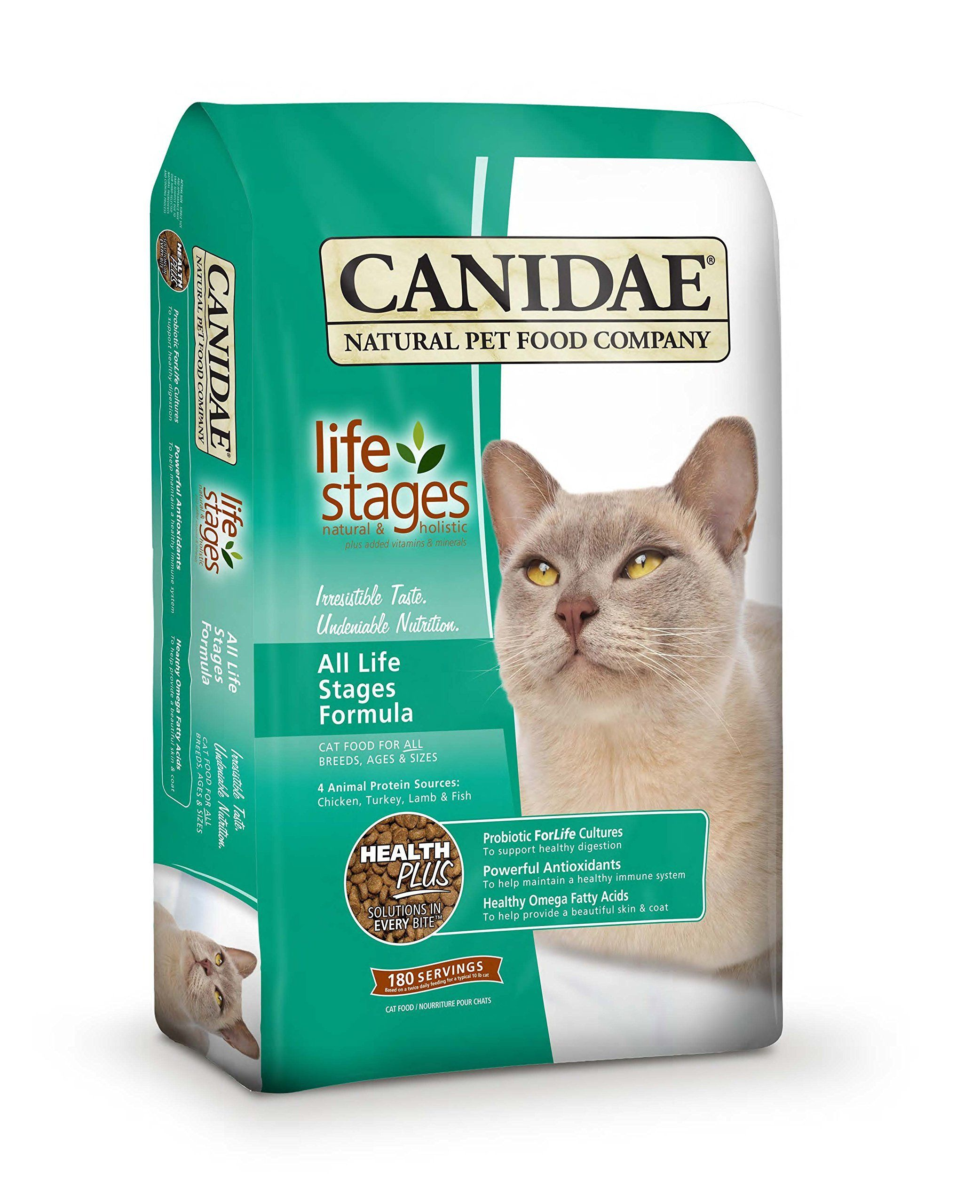 CANIDAELife Stages Dry Cat Food for Kittens Adults & Seniors Chicken, Turkey, Lamb & Fish 15-Pound