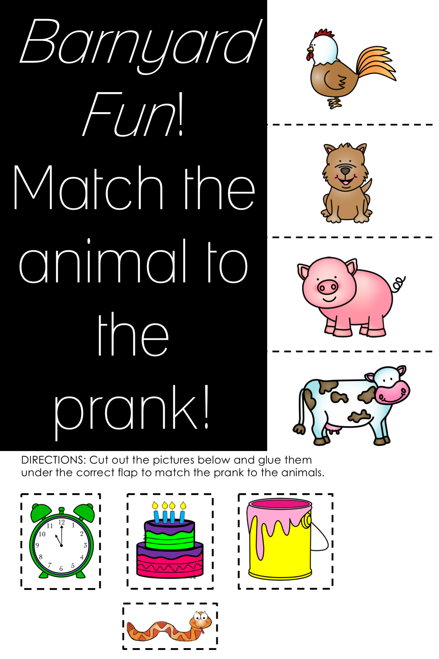 Barnyard Fun April Fool S Day Foldable And Sudoku Puzzles