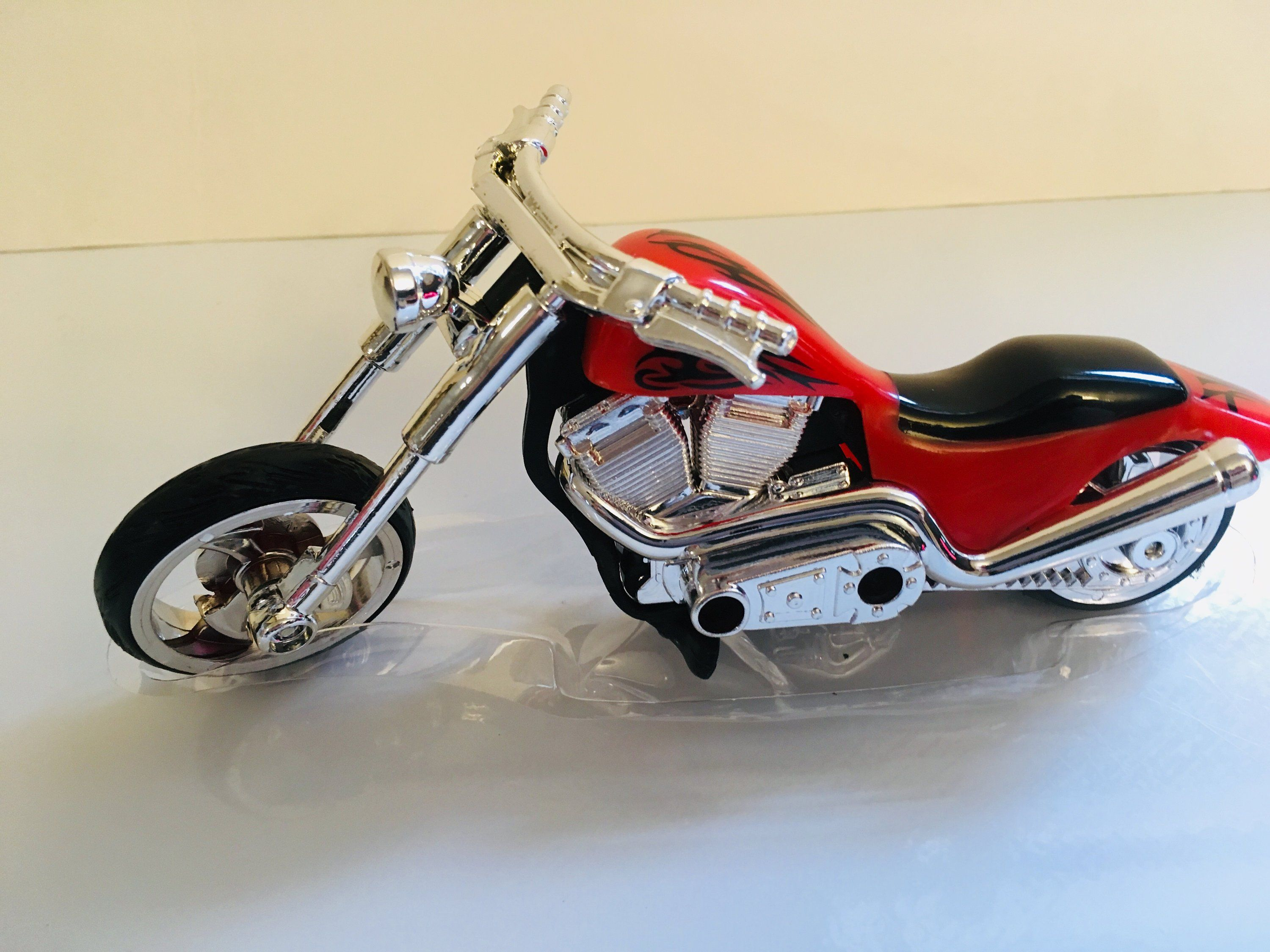 Red Hot Chopper Motorcycle Cake Topper