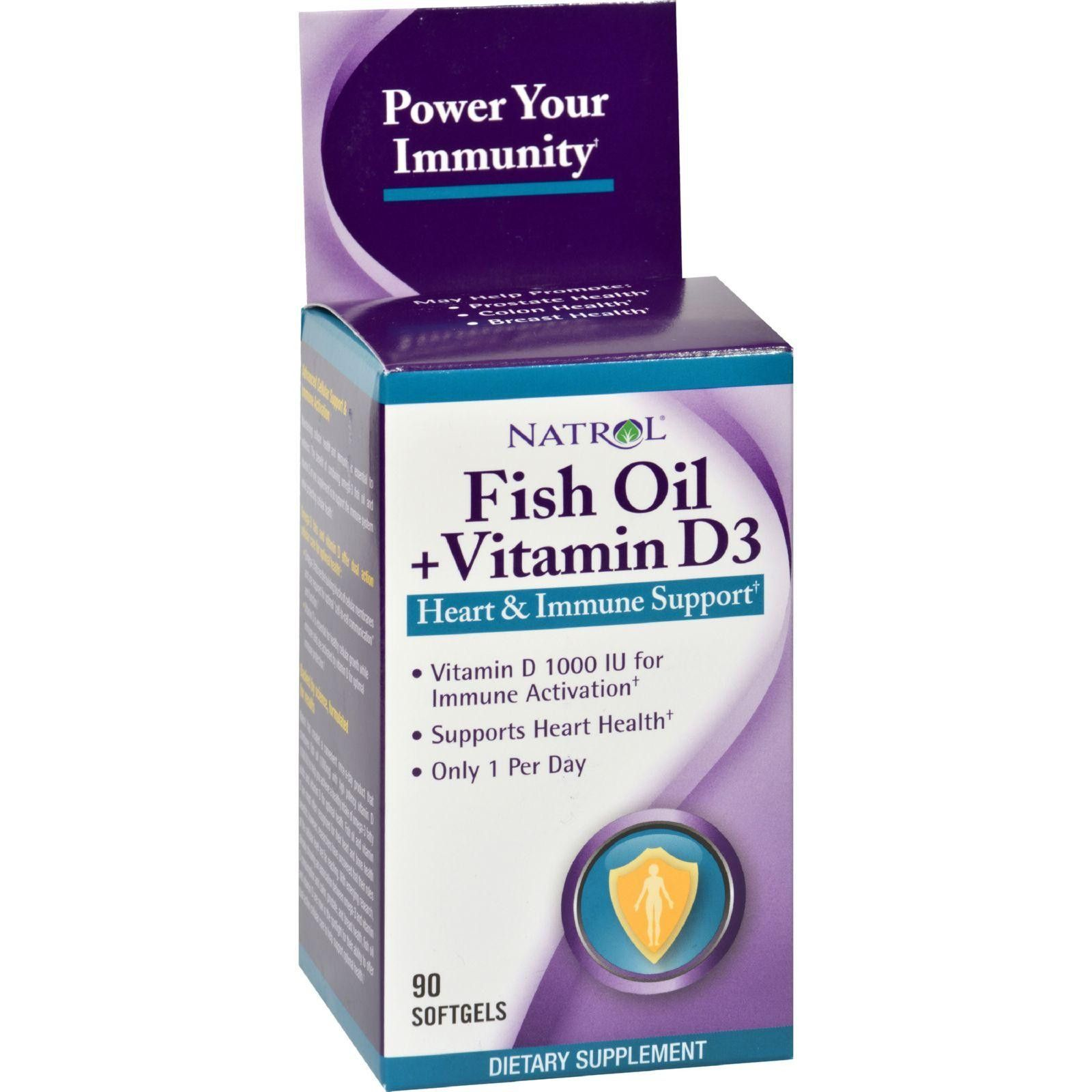 Natrol Fish Oil Plus Vitamin D3 Heart And Immune Support