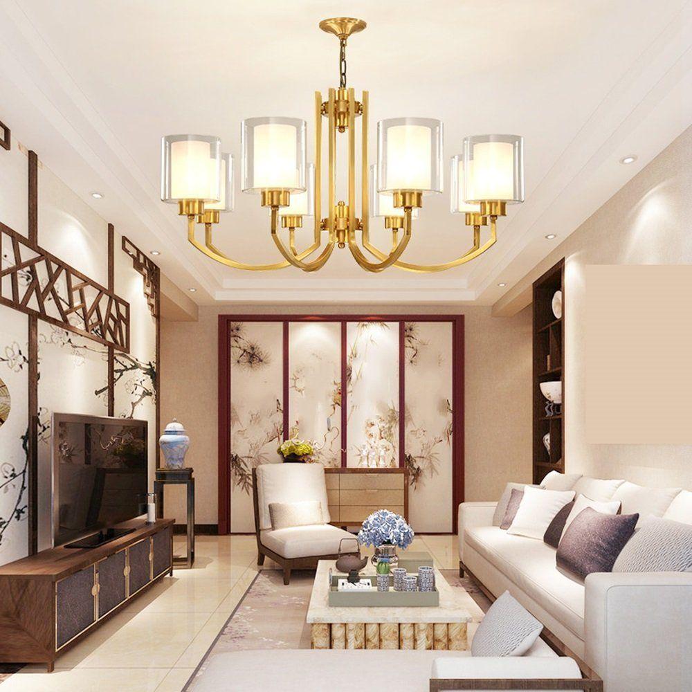 lampadario Tutti lampadario in bronzo Lampade da soggiorno in stile ...
