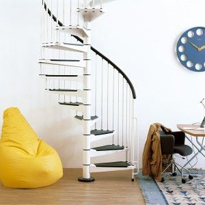 Best Arke Stairs Spiral Staircase Kits Small Space 640 x 480