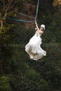Trash The Dress Photos Zip Lining Adventure Weddings Las Caletas Puerto Vallarta Mexico