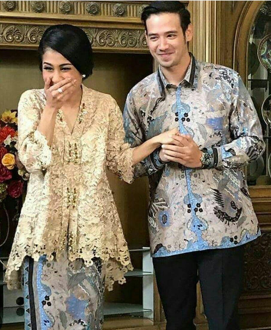 Baju Batik Modern Untuk Orang Tua: Kebaya Brokat & Payet Modern