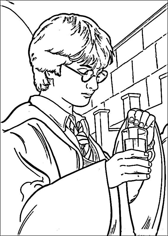Harry Potter Coloring Pages 13 Coloriage Harry Potter Coloriage