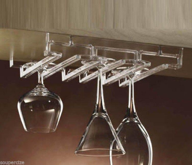 Prodyne Acrylic Stemware Rack Under Cabinet Modular Shelf Ar 100