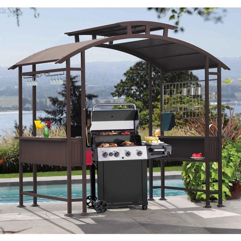 Outdoor Steel Yard Garden Patio Deck BBQ Grill Cooking Pagoda Gazebo Shelter