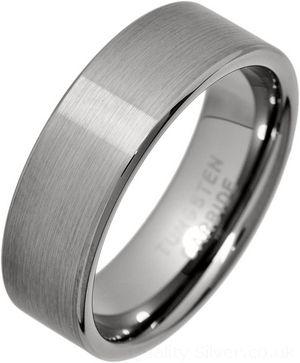 7mm Flat Brushed Tungsten Carbide Ring Tungsten Wedding Rings Tungsten Carbide Rings Tungsten Carbide Wedding Bands
