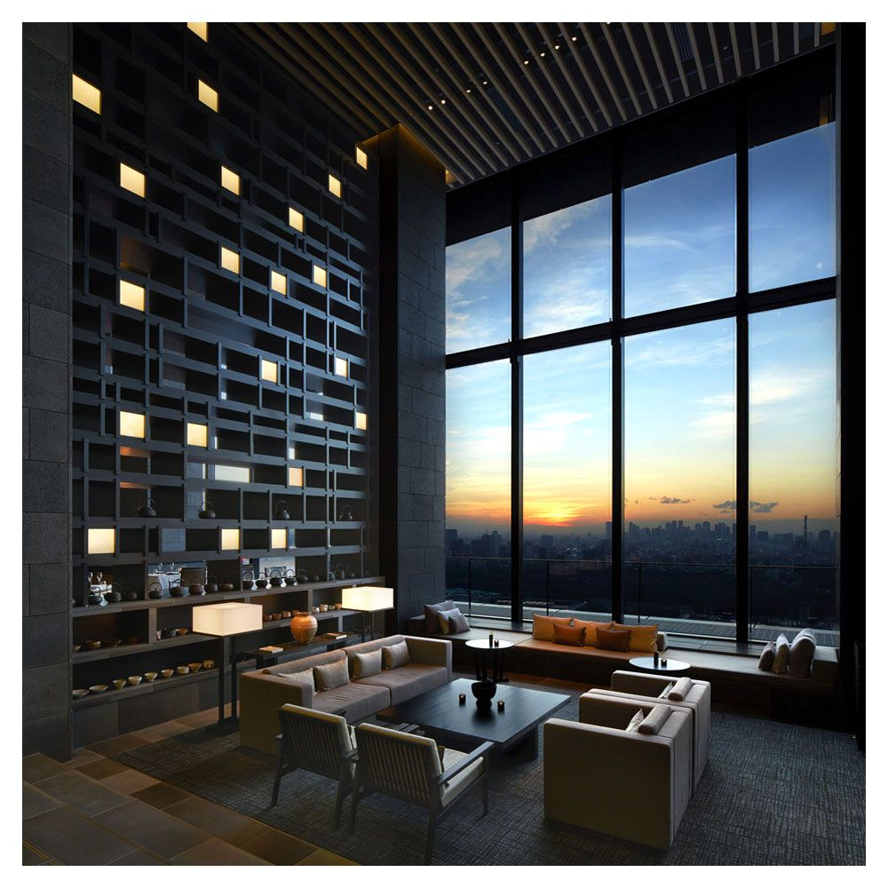 Kerry hill architects aman hotel tokyo 2015 modern for Design hotel tokyo