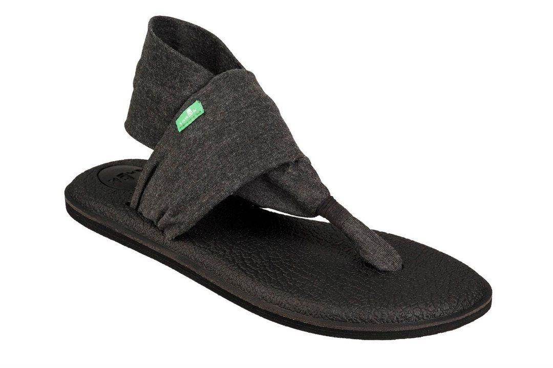 77f3b1d56734 Sanuk New Yoga Sling 2 Charcoal Sandals | Sanuk for Summer | Sandals ...