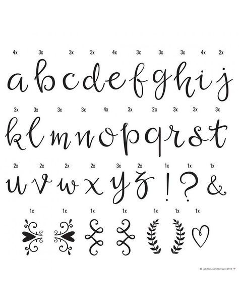 A Little Lovely Company Lightbox Letter Set Script Mix Drawings