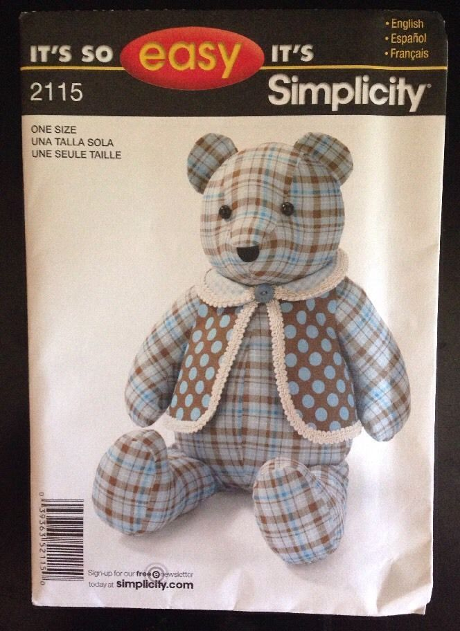 New Simplicity It S So Easy It S Simplicity Bear Pattern E2115