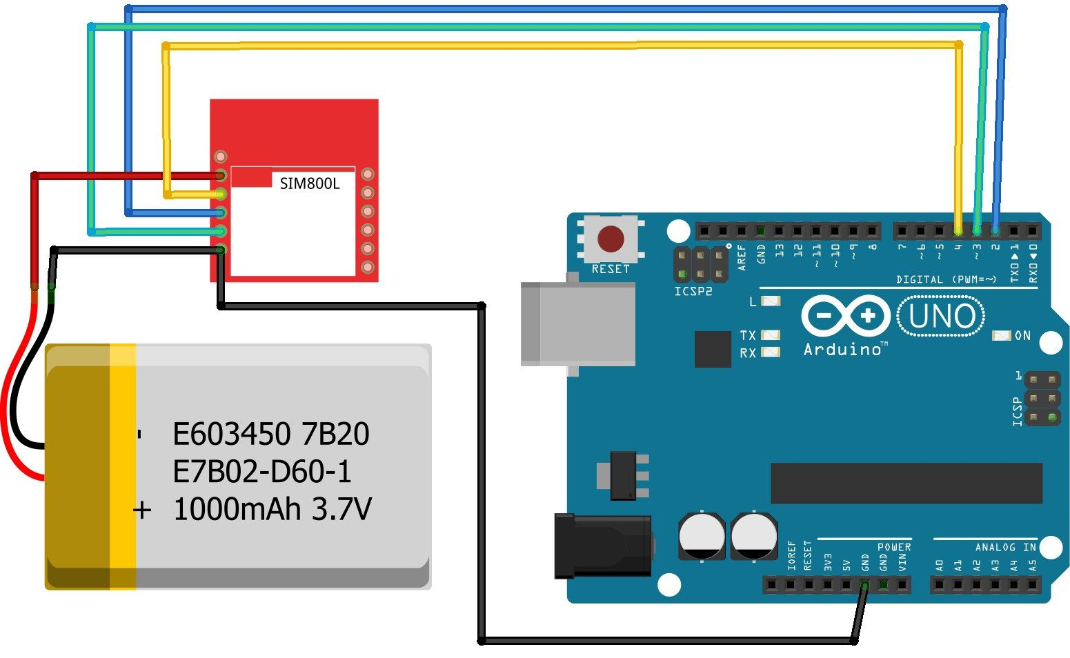 Arduino SIM800L Connection | Arduino | Arduino, Send text message