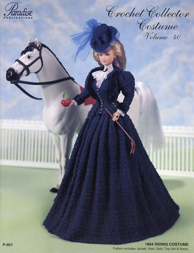 1894 Riding Costume Paradise Vol. 40 for Barbie Doll Crochet Pattern ...