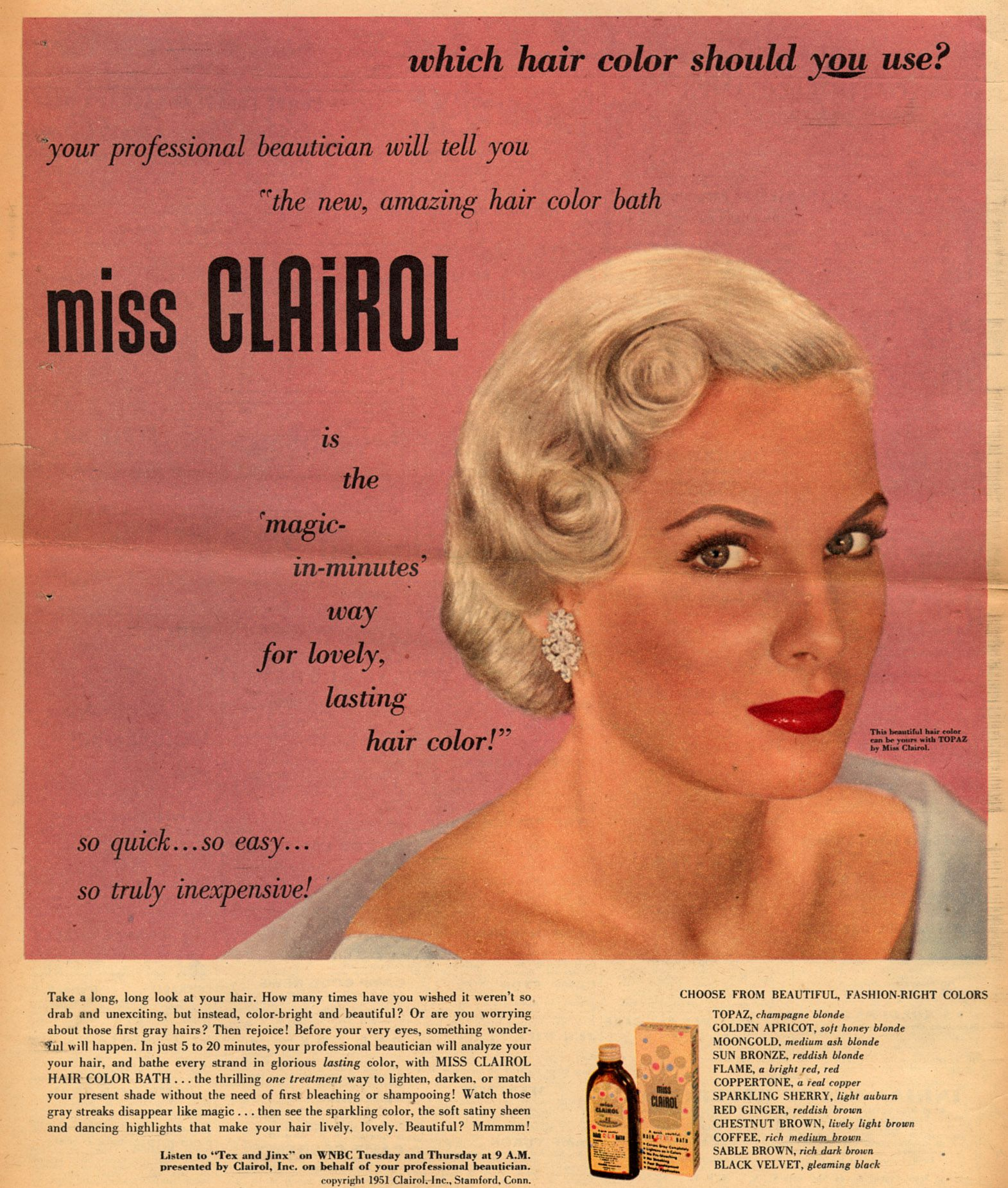 Miss Clairol Vintage Hair In 2019 Clairol Hair Color Which Hair