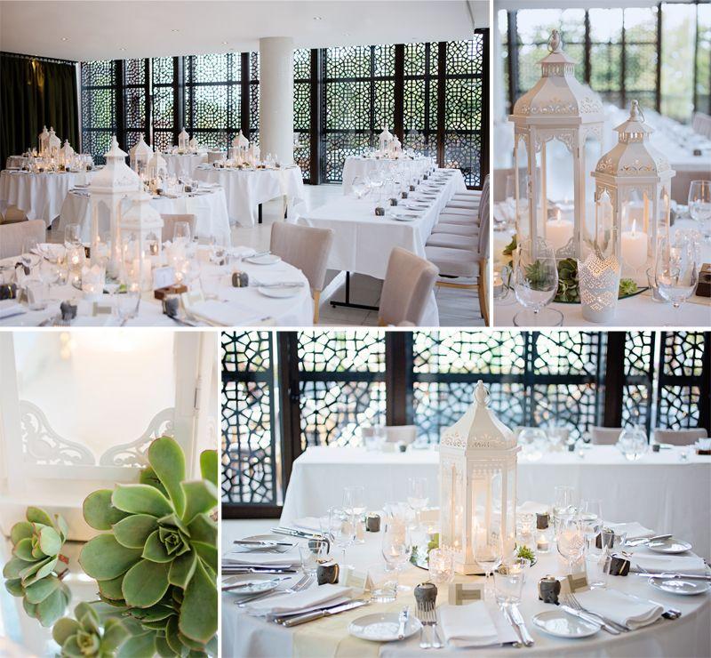 Circa The Prince Deck Wedding Venue Moroccan Theme Lantern Centrepiece Sri Lankan Neutral Decor