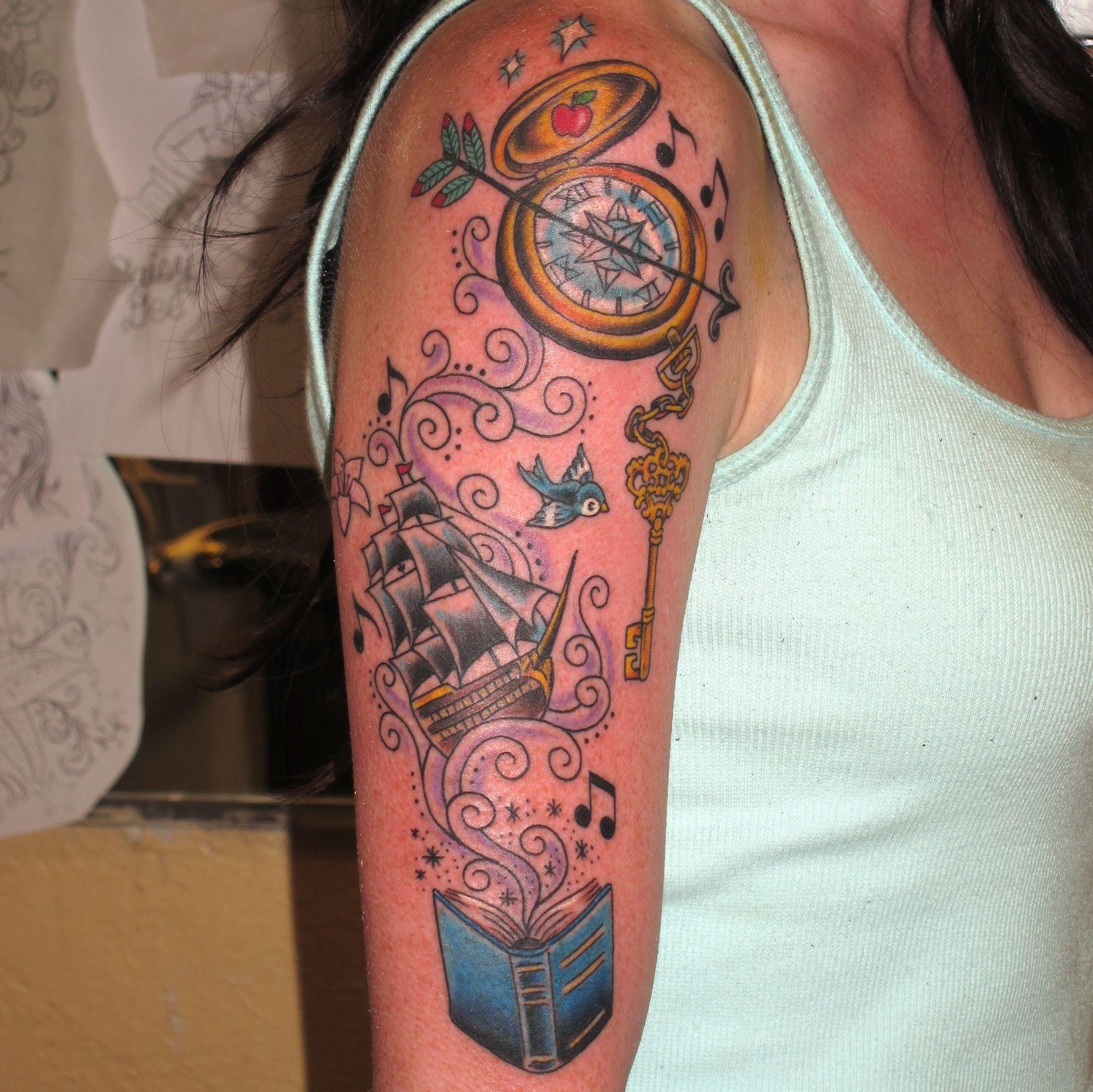 Austin Watercolor Tattoo: Magical Disneyesque Tattoo By Jon Reed, All Saints Tattoo