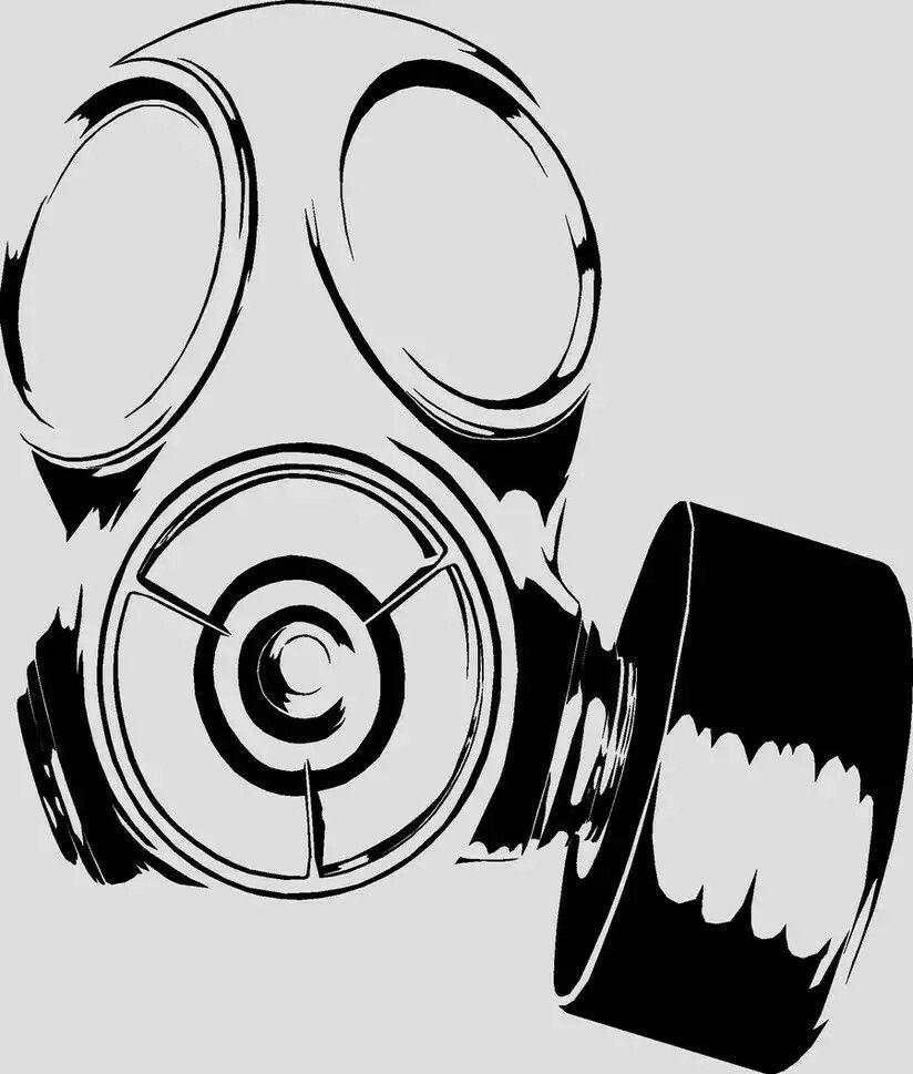 Gas Mask Art Masks Drawing Skull Sketch Henna Ideas Tips Silhouette Cameo Post Apocalypse