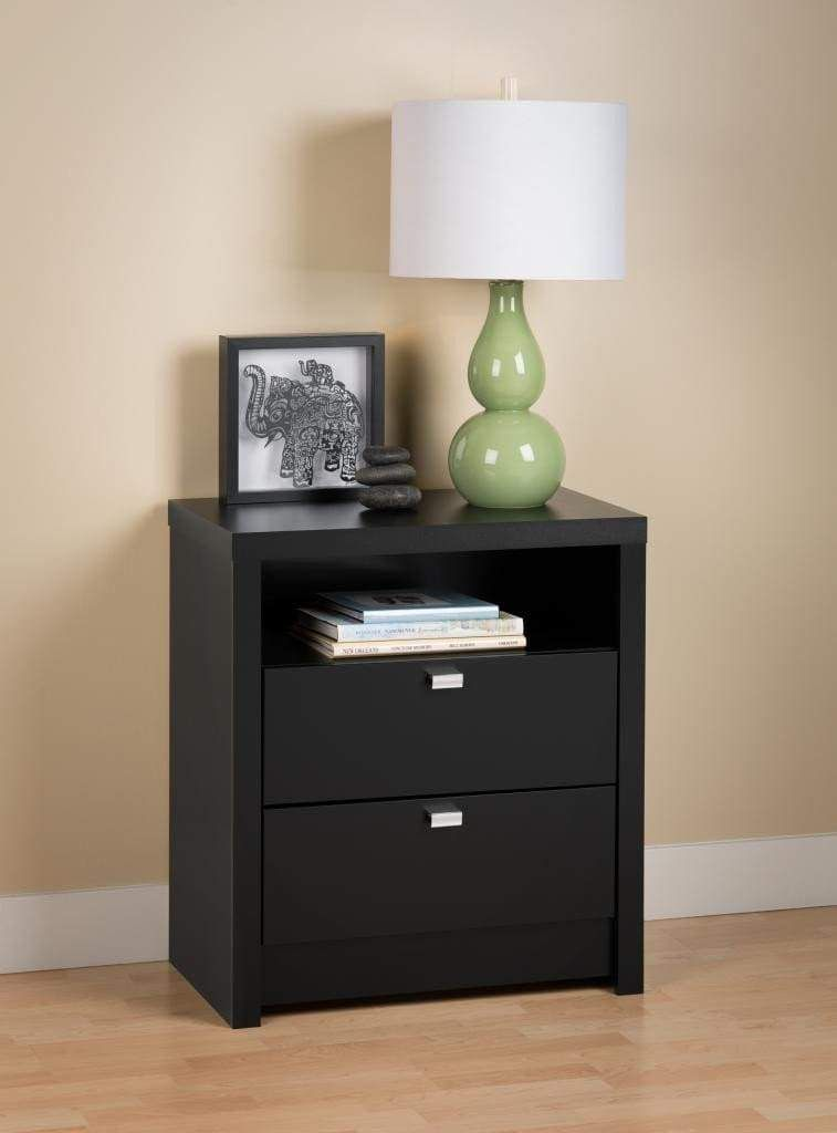 Best Black Series 9 Designer Tall 2 Drawer Nightstand In 2020 640 x 480