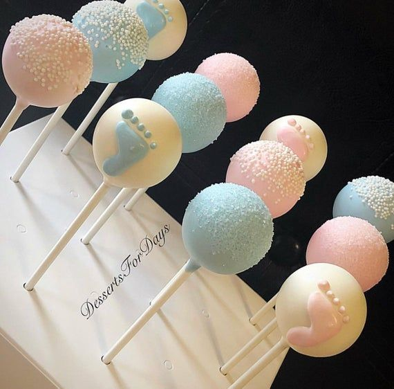 1dz Gender Reveal Cake Pops Baby Shower Cake Pops Cake On A Stick Mother To Be Gift Cake Balls Dessert Table Party Favors Gender Reveal Cake Pops Baby Reveal Cakes Baby