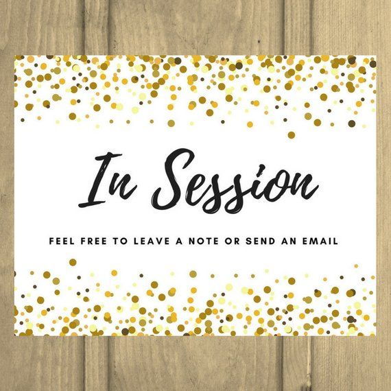 In Session Door Sign Counseling Door Sign Therapist Social