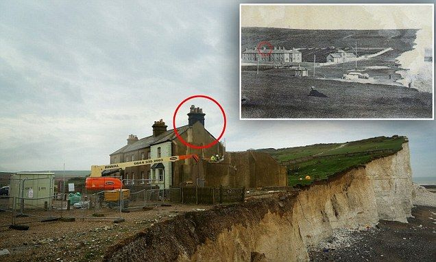 uk coastal erosion before and after photos - Google Search ...