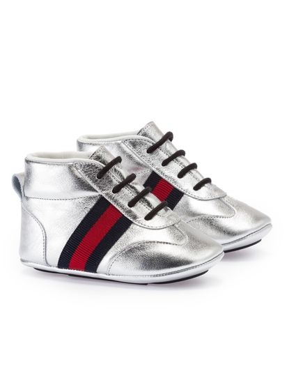 a8604ad86 Gucci low shoes, baby shoes, fashion shoes baby, silver shoes baby, baby  sneaker, sneaker gucci baby