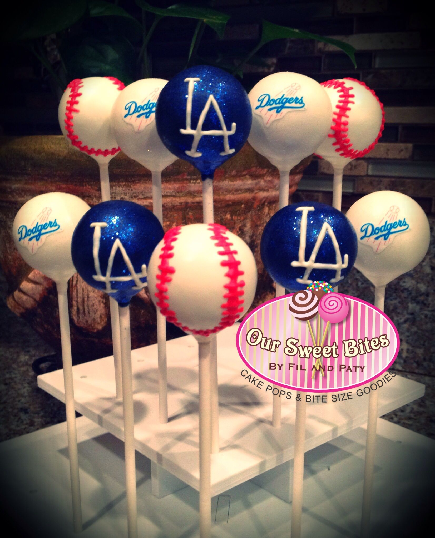 Our Los Angeles Dodger Inspired Cake Pops Oursweetbites