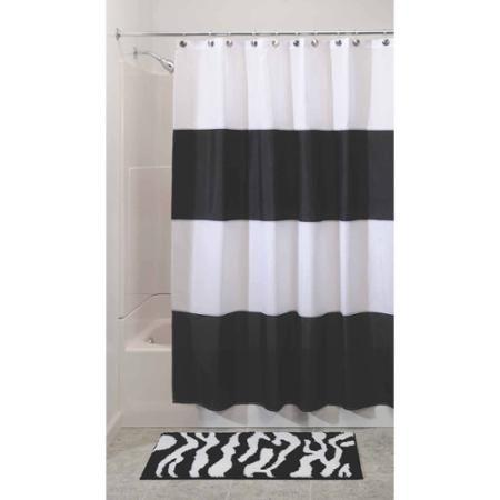 InterDesign Zeno Mildew-Free Water-Repellent Shower Curtain ...