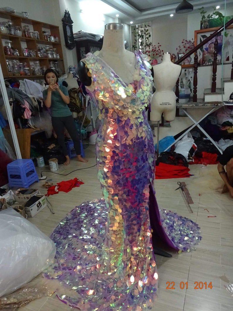 Ariel from the sea ariel purple dress disney costume