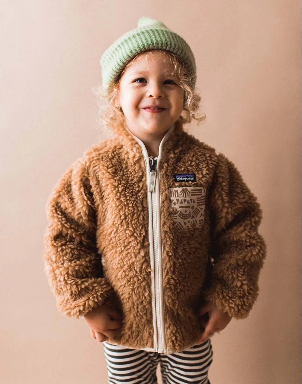 patagonia teddy jacke kinder