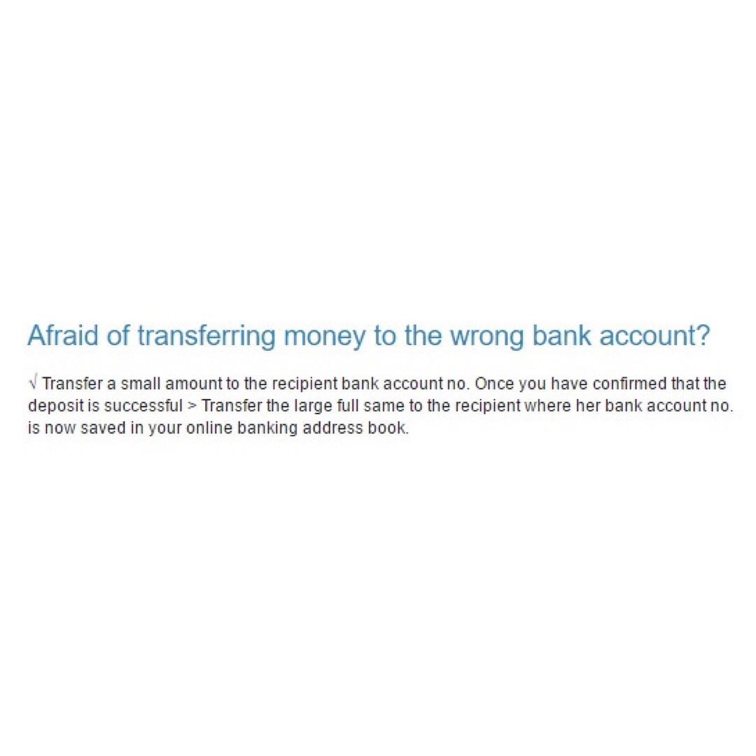 How To Avoid Transferring Money The Wrong Bank Account See Www Bentsai