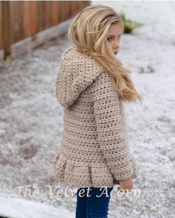 CROCHET PATTERN-The Veilynn Sweater (2, 3/4, 5/7, 8/10, 11/13, 14/16 ...