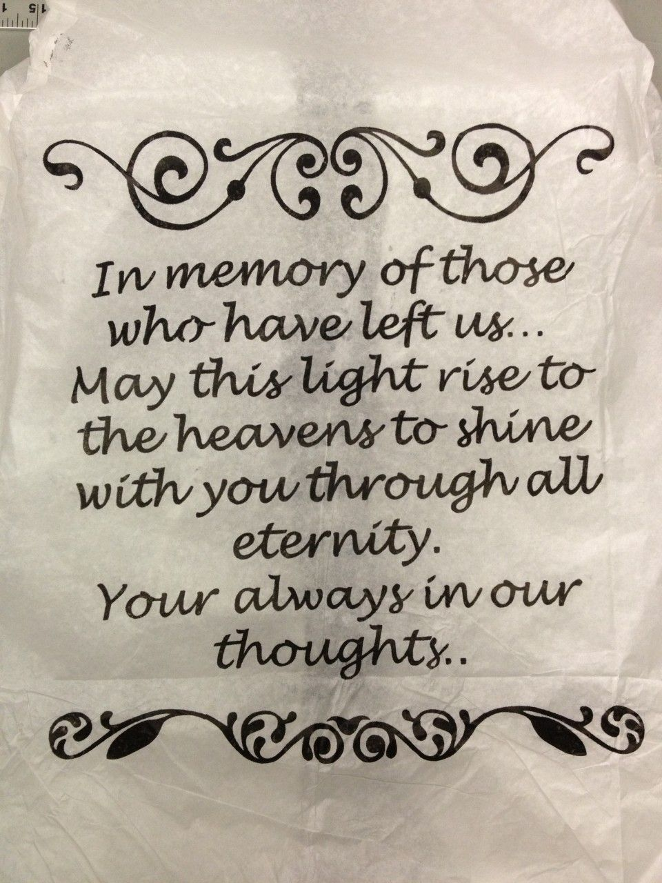 In Remembrance Quotes Of A Loved One Night Club Supplies Llc  In Memory Of Those Sky Lantern $8.99